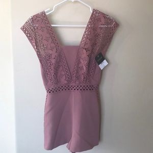 Topshop Other - NWT mauve lace crochet romper by TOPSHOP-size 0